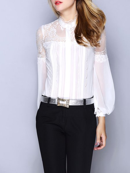 White Plain Elegant Blouse