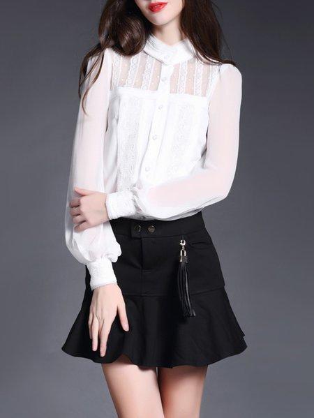 White Silk Elegant Blouse
