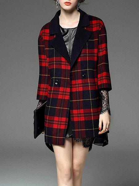 Lapel 3/4 Sleeve Casual Coat