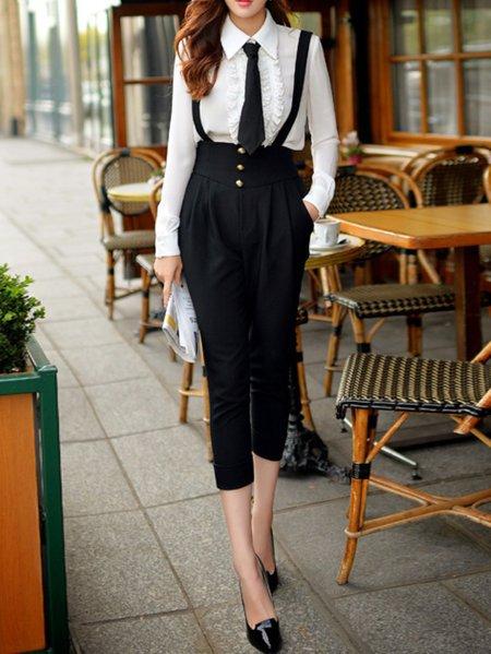 Black Plain Vintage Overall