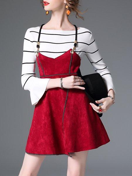 Cotton-blend Casual Spaghetti Mini Dress