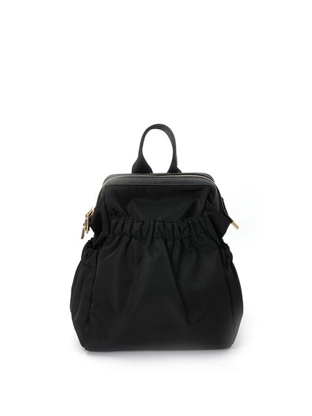 Medium Zipper Cowhide Leather Backpack