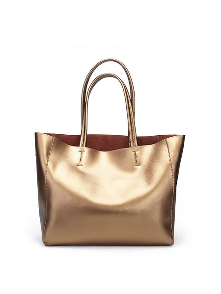 Golden Casual Medium Cowhide Leather Tote