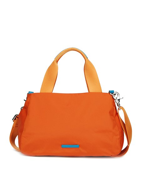 Orange Zipper Casual Tote
