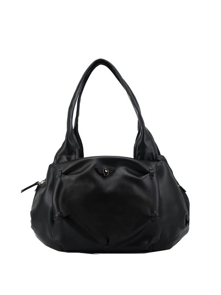 Casual Small Zipper Cowhide Leather Shoulder Bag