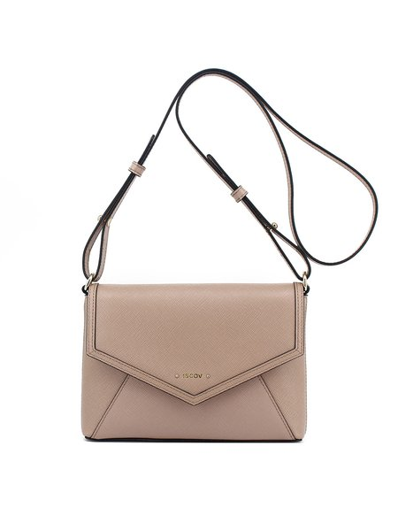 Small Simple Cowhide Leather Magnetic Crossbody