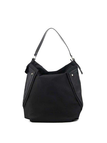 Black Nylon Medium Casual Shoulder Bag