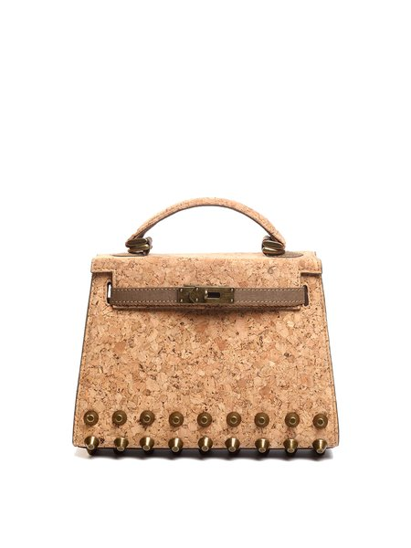Neutrals Casual Twist Lock Cork Top Handle