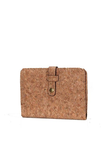 Neutrals Casual Cork Snap Card Case