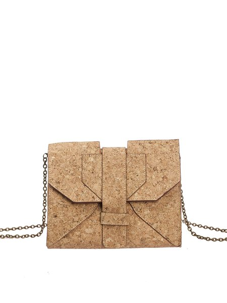 Neutrals Small Cork Casual Satchel