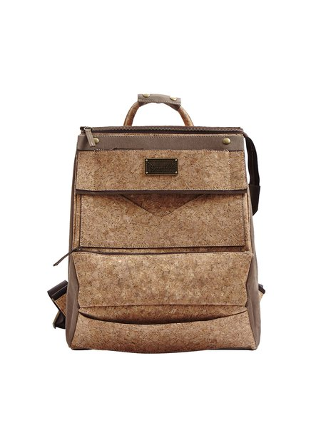 Neutrals Split Joint Cork Casual Backpack