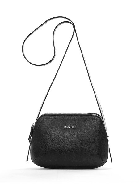Black Zipper Casual Cowhide Leather Crossbody