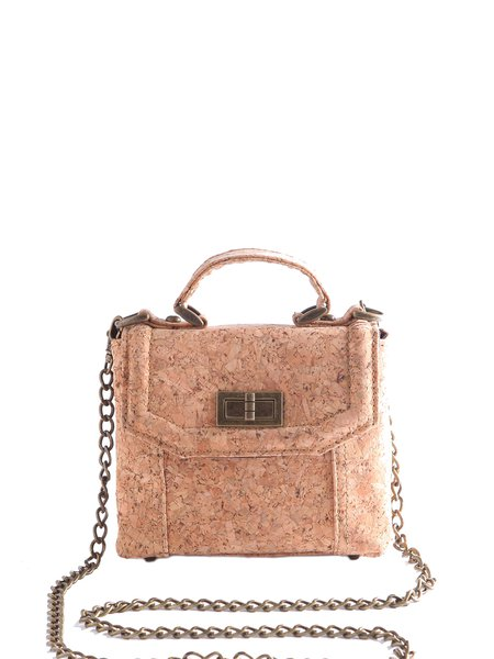 Neutrals Casual Small Cork Crossbody