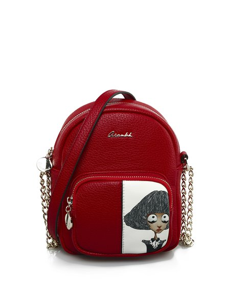 Cartoon Printed Zipper Sweet Crossbody