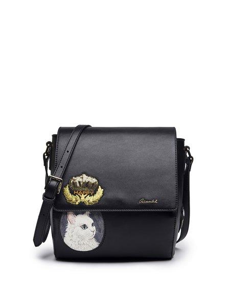PU Zipper Cute Split Joint Crossbody Bag