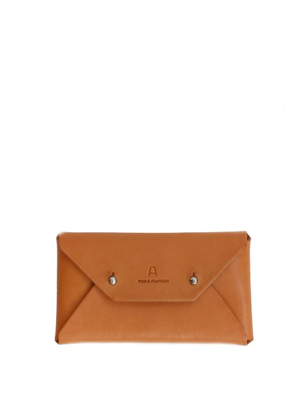 Camel Retro Mini Cowhide Leather Coin & Card Case