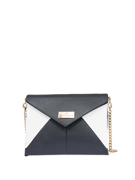 Black Color-block Statement Mini Crossbody