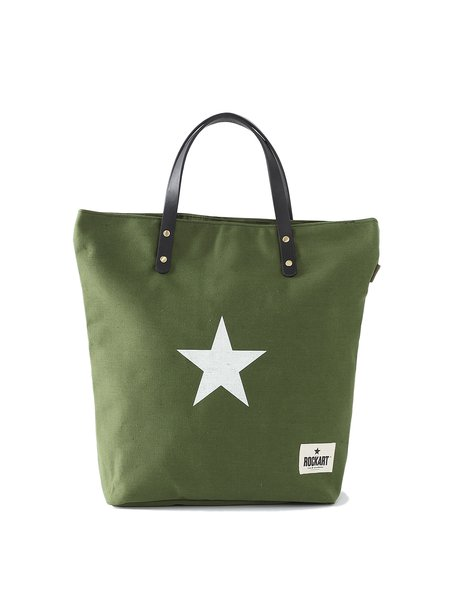 Army Green Casual Medium Nylon Tote