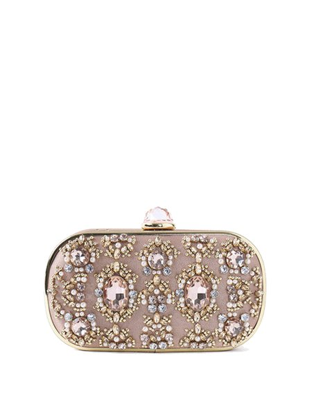Satin Mini Evening Clasp Lock Clutch