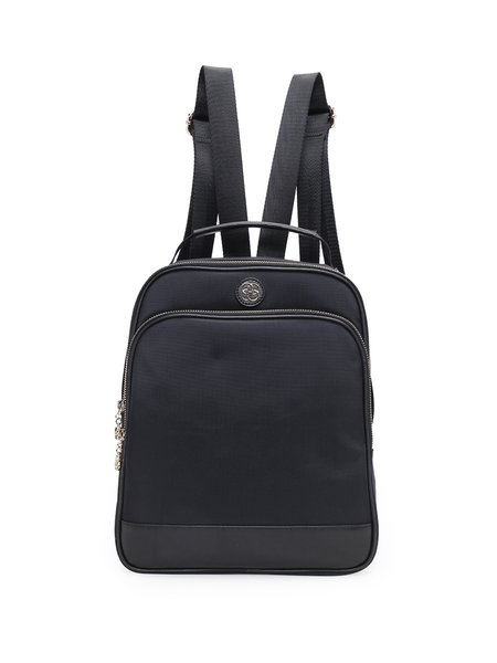 Solid Zipper Simple Medium Backpack