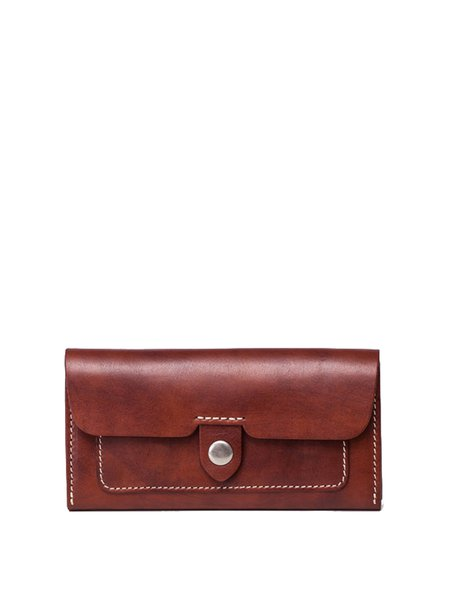 Brown Mini Cowhide Leather Casual Wallet