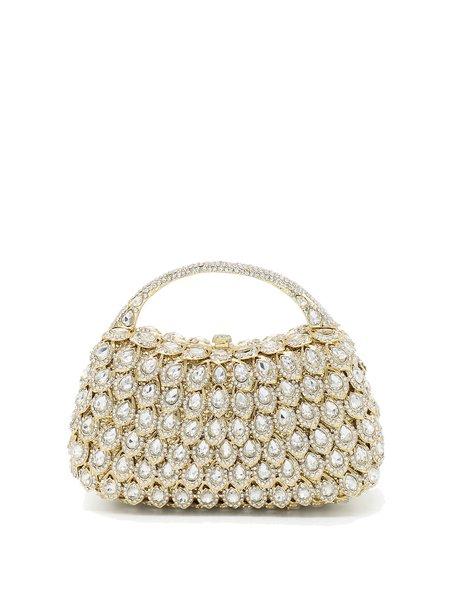 Golden Beads Embellished Evening Clutch