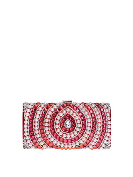 Clasp Lock Evening Small Beaded Clutch