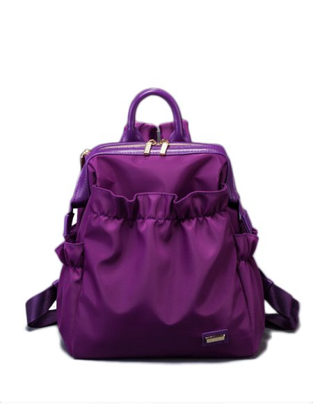 Zipper Nylon Casual Small Backpack