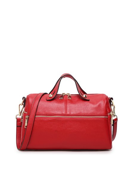 Crimson Medium Cowhide Leather Satchel
