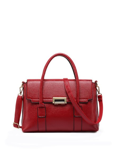 Cowhide leather Small Casual Satchel