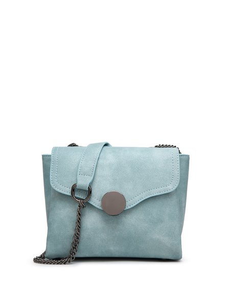 Plain Casual Snap Crossbody Bag