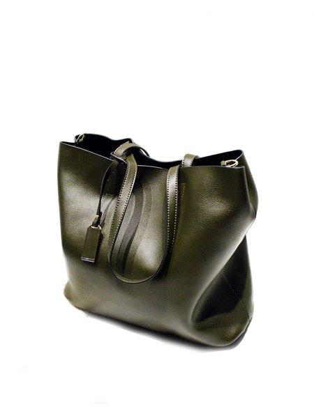 Zipper Medium Simple Solid Cowhide Leather Tote