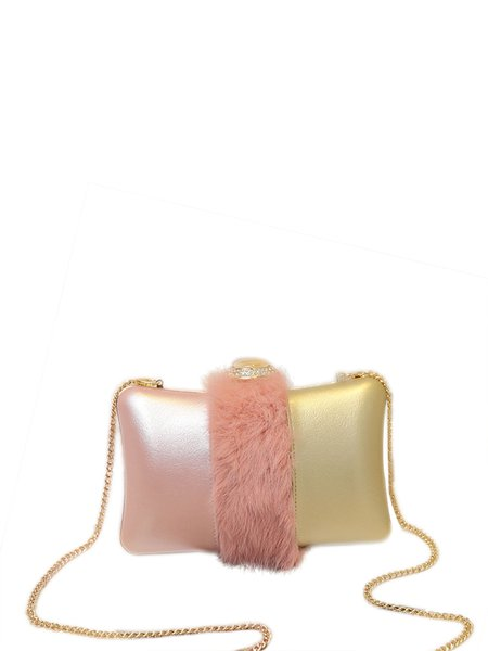Mini Color-block Clasp Lock Sweet Evening Crossbody