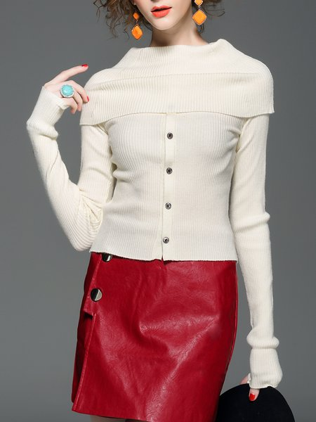 H-line Elegant Turtleneck Sweater