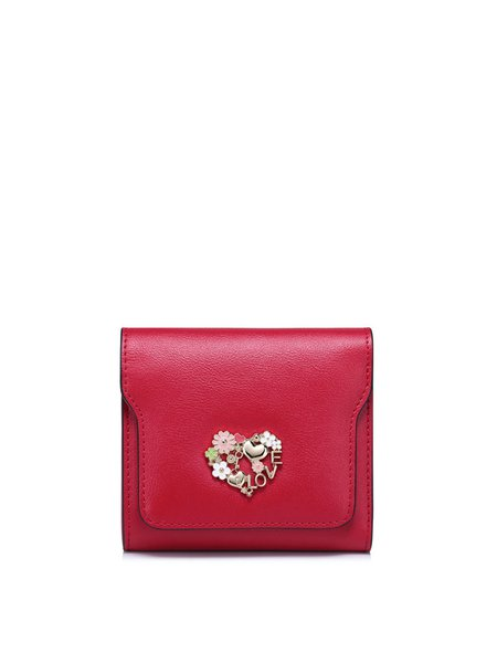 Snap Sweet Mini Cowhide Leather Wallet