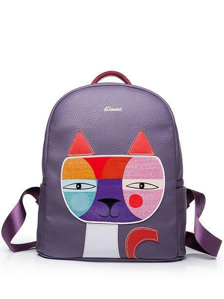 Purple Statement Cat Split Joint Backpack
