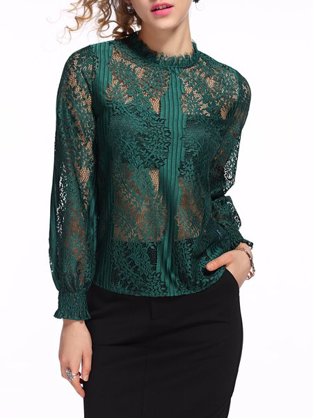 https://www.stylewe.com/product/pierced-ruffled-lace-h-line-balloon-sleeve-long-sleeved-top-97772.html