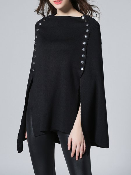 Batwing Statement Knitted Poncho And Cape