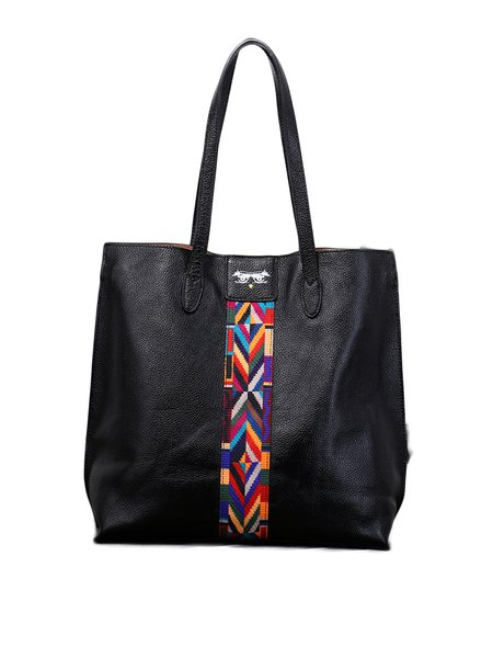 Zipper Medium Cowhide Leather Casual Tote