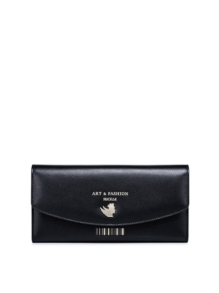 Cowhide Leather Snap Mini Wallet