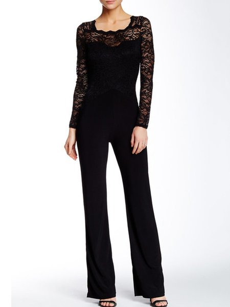 Casual Pierced Long Sleeve Jumpsuit