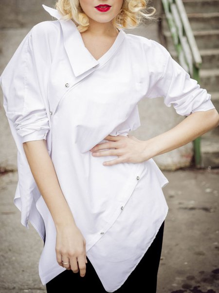 Plain Hand Made Casual Long Sleeve Maxi Dress