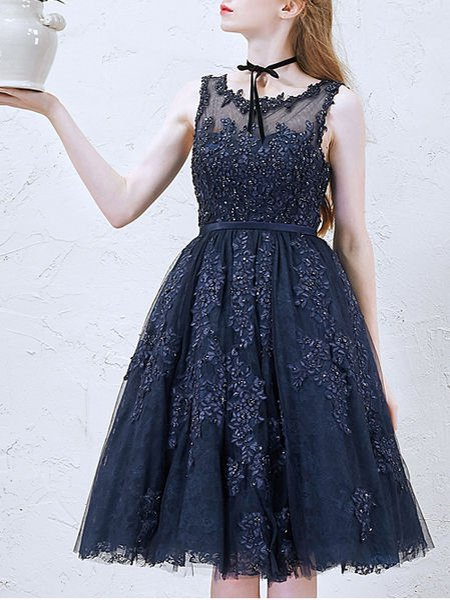 Blue Swing Vintage Evening Dress