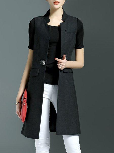 Simple Plain Sleeveless Vest