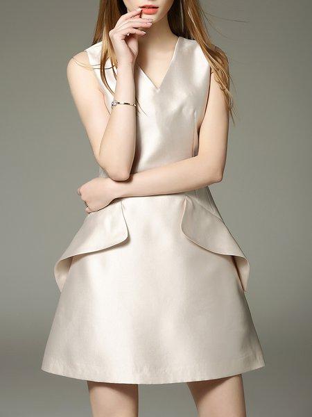 Polyester Sleeveless Cocktail Mini Dress