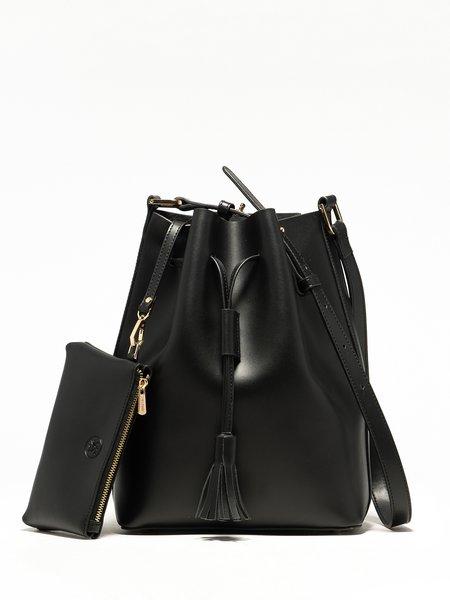 Split Leather Casual Small Drawstring Shoulder Bag