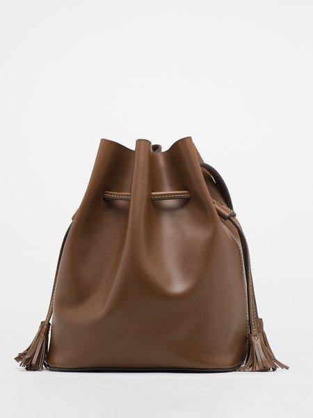 Brown Small Split Leather Shoulder Bag