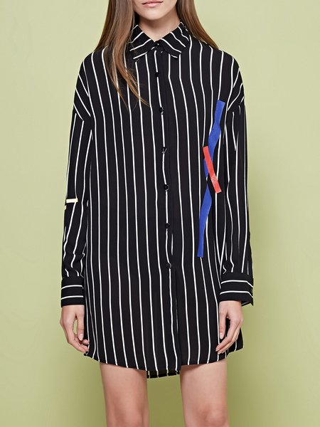 Black H-line Long Sleeve Tunic