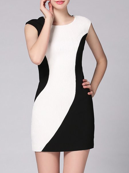 Sleeveless Crew Neck Elegant Mini Dress