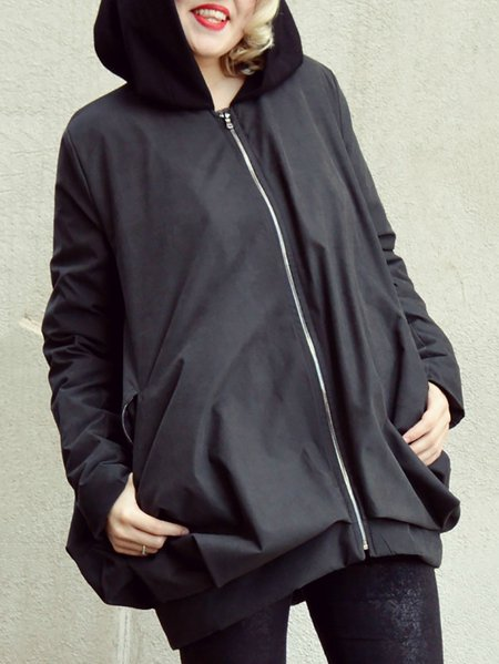 Long Sleeve Plain Acrylic Casual Hand Made Coat